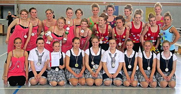 Teilnehmer des TuS am Dance-Cup