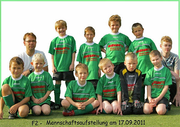 F-Jugend Aufstellung am 17.09.2011
