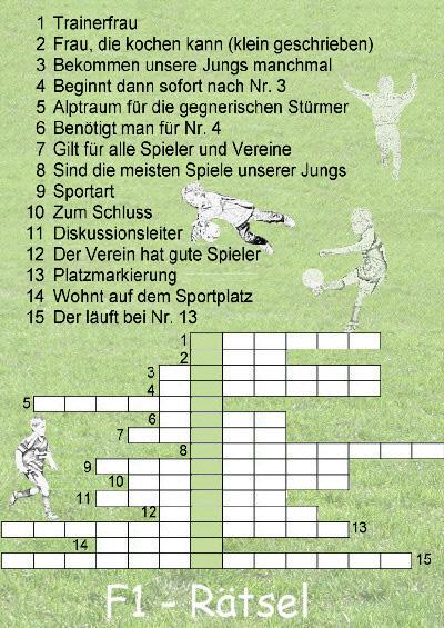 F1 - Fussball - Rätsel