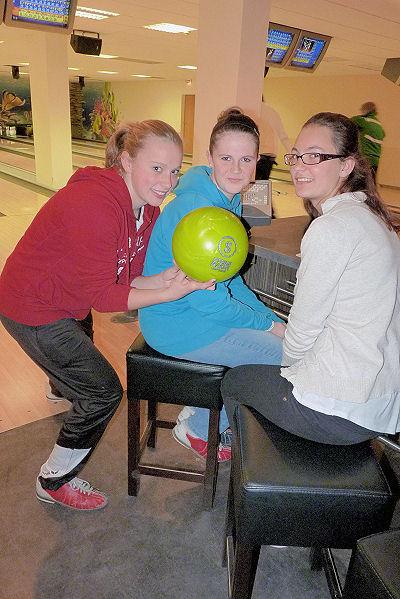 Drei vom Team Mädchen