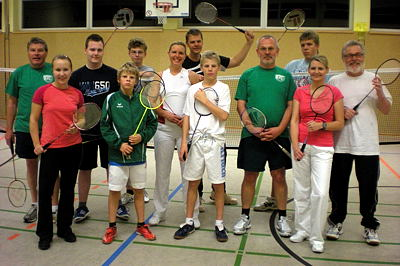 Badminton-Trainingsgruppe