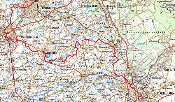 Karte: © Landesvermessungsamt NRW