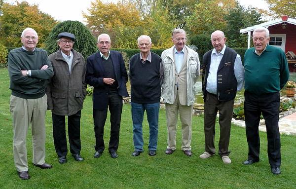 v.l.n.r.:  Willi Berghahn, Alois Ostarek, Reinhard Spieker, Friedhelm Kligge, Friedhelm Benning, Reinhard Richts, Hans Gillich