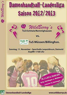 Lokalderby gegen TuS Müssen/B. am 11.11.2012 um 17:00 Uhr im Leopoldinum