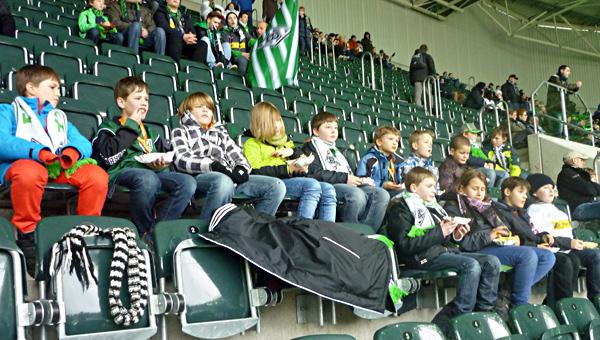 E2 Team im Gladbach Stadion