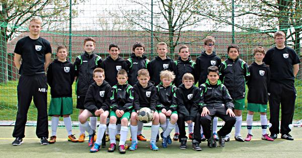 Das Team der D - Junioren am 1. Mai 2013