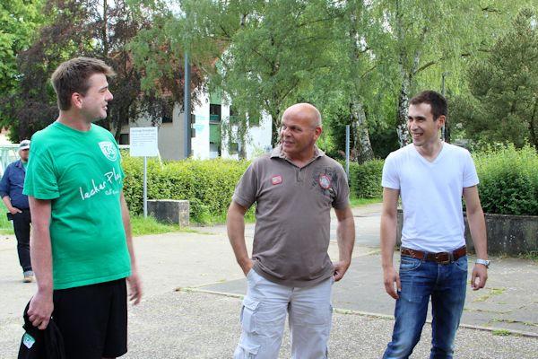 Neuer Trainer im TuS: Mirko und Kim-Oliver begrüßen Martin Ertner
