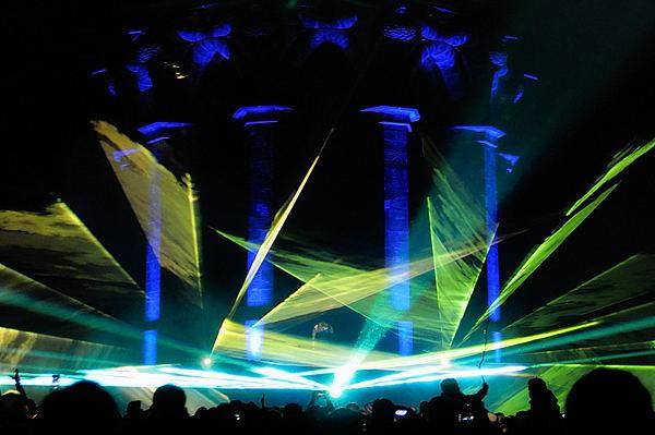 Lasershow am Hermann