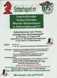 Schachseminar mit Werner Beckemeyer