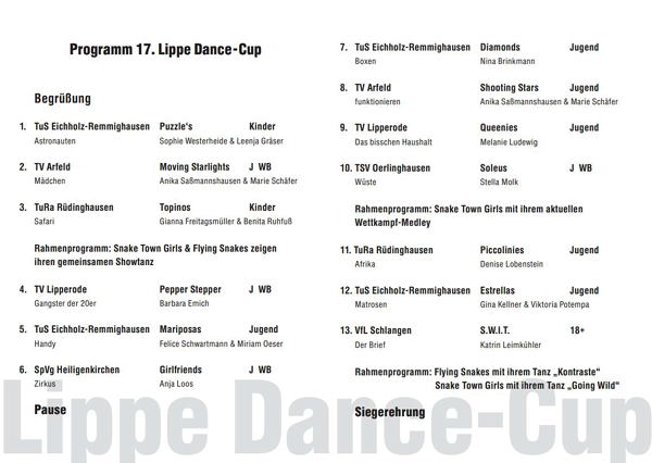 Lippe Dance-Cup