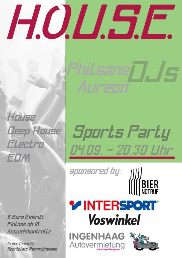 Sports Party am Freitag