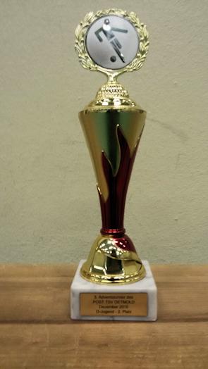 Pokal für Platz 2 beim Adventsturnier