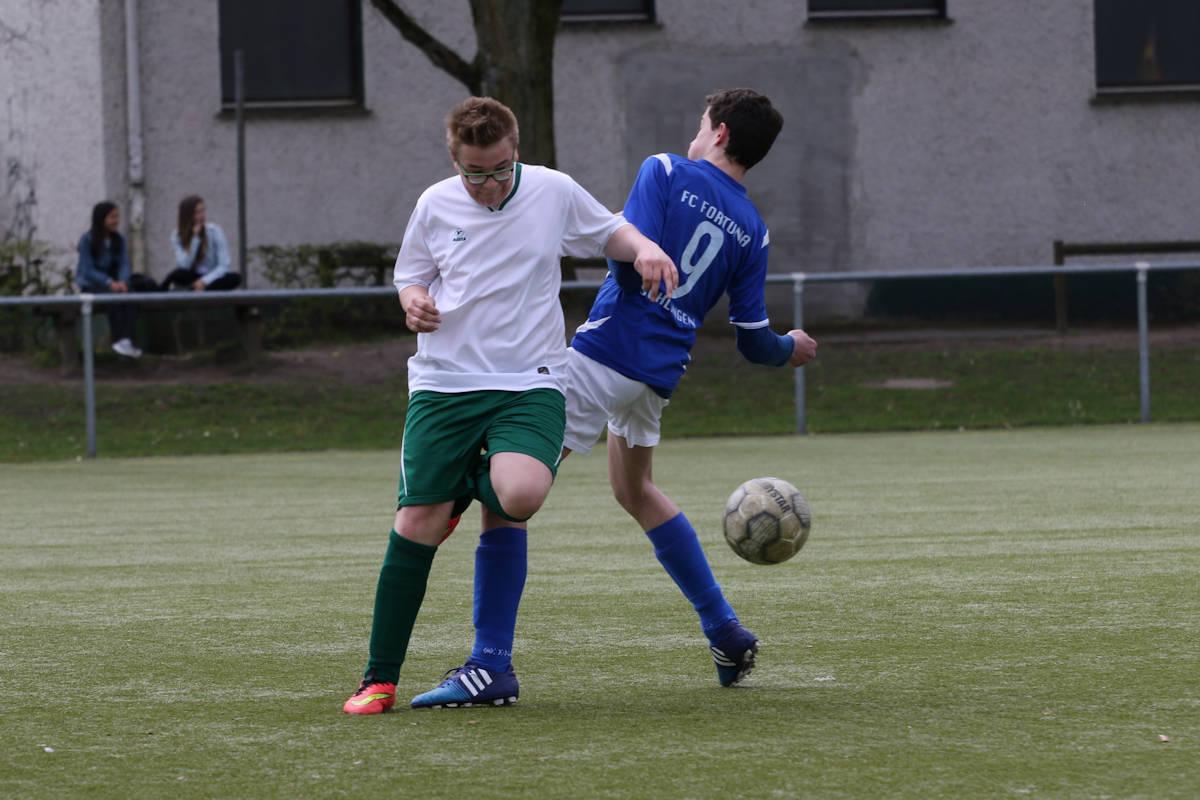 Szene aus der Partie C-Jugend gegen FC Fortuna Schlangen