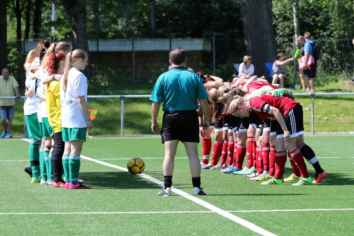 Aufstellung zur letzten Partie der Bezirksligasaison