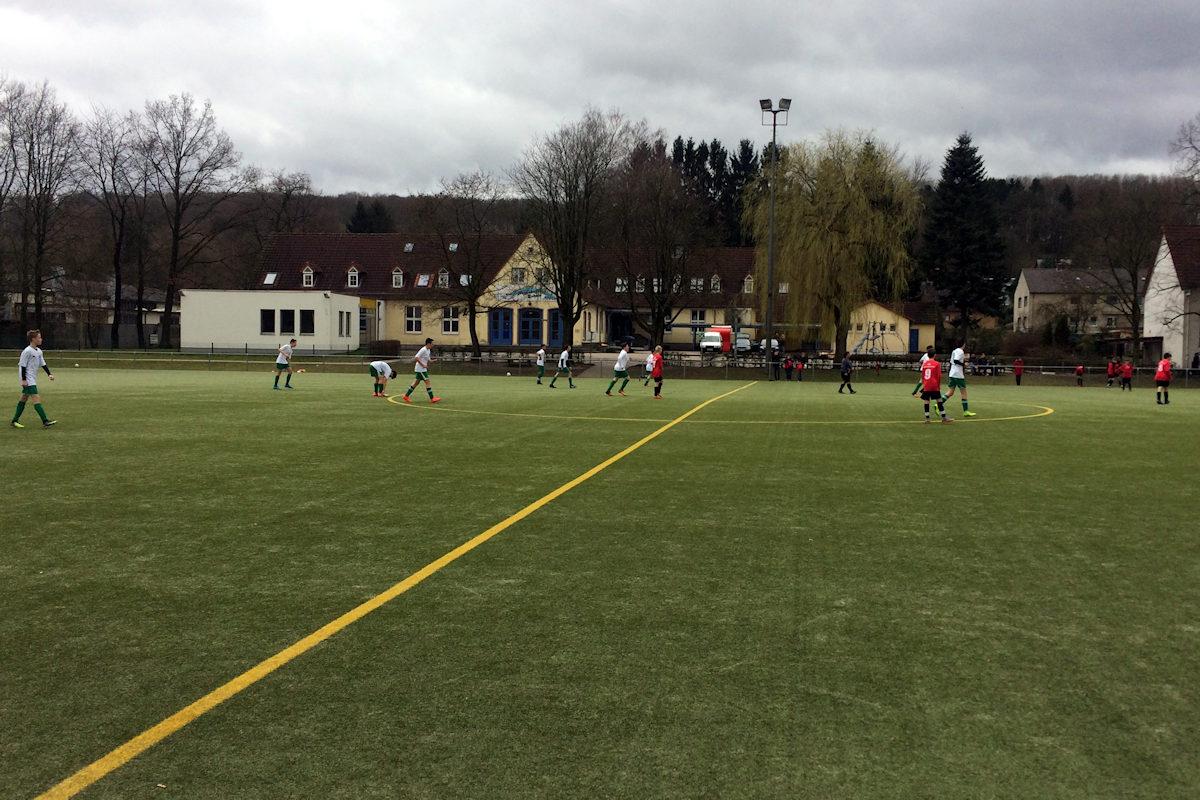 Spielgeschehen aus Sicht des Trainers (Foto D. Gröne)