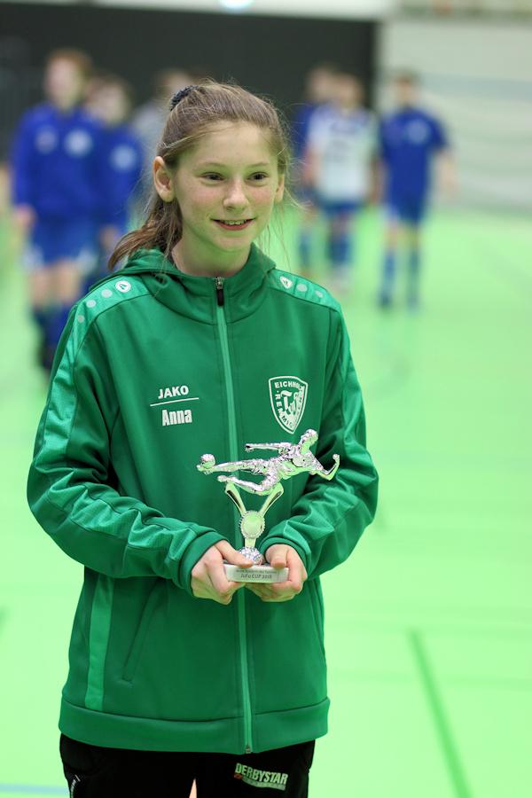 Anna-Maria als Keeper des JuFu-Cups ausgezeichnet