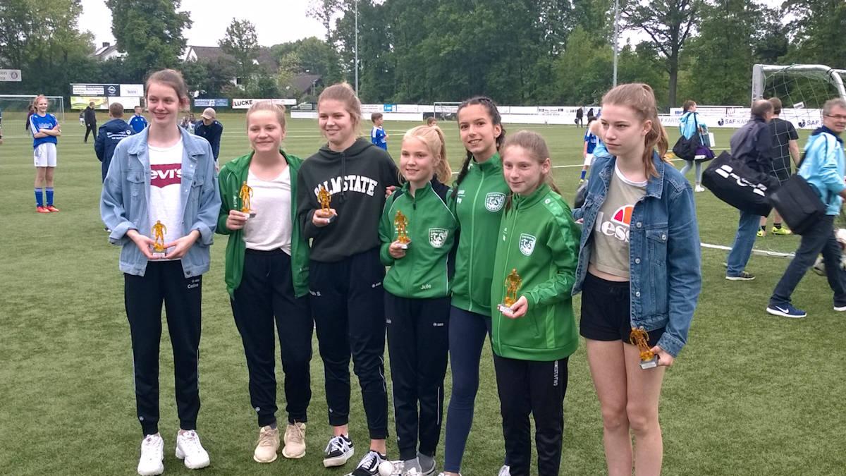 Team Grün-Weiß als C-Juniorinnen in Rödinghausen