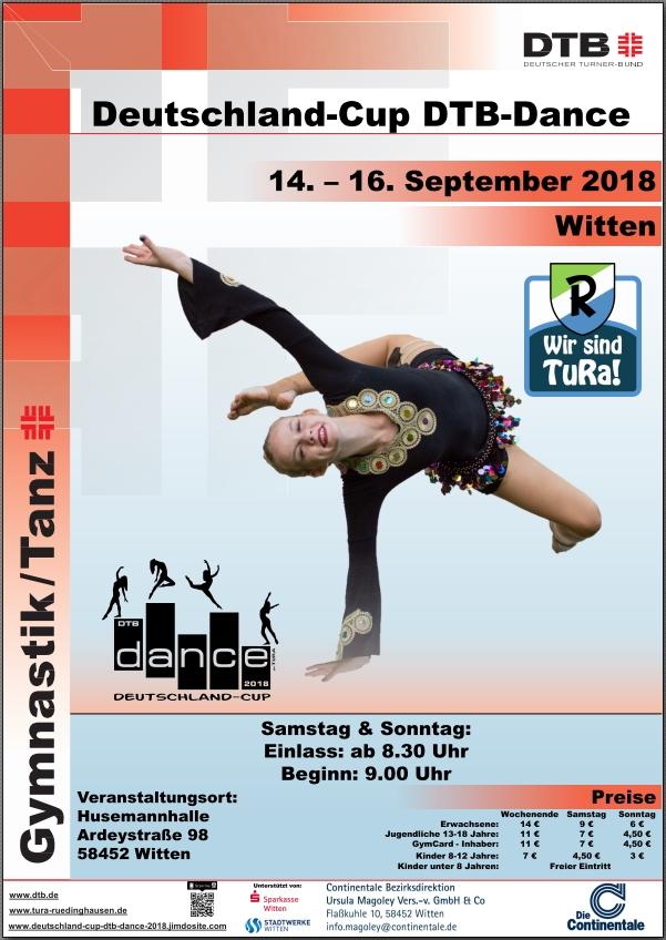 Das offizielle Plakat zum DTB Dance Cup