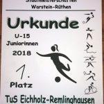 Urkunde für den TuS Eichholz-R.