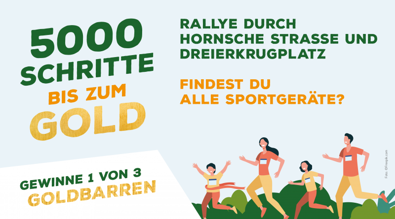 5000 Schritte bis zum Gold: Mach mit und gewinne 1 von 3 Goldbarren!
